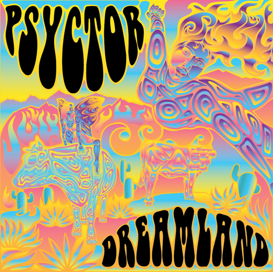 Final Layout Of The Trippy Psychedelic Album Cover