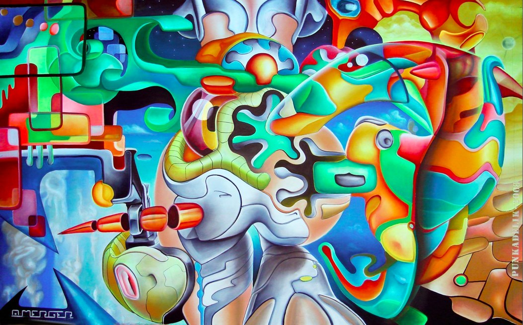 Fluorescent paintings by Antoine Merger