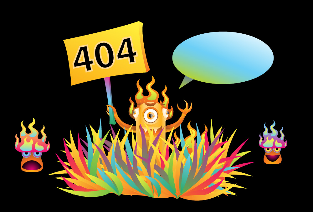 Monster 404 error page illustration