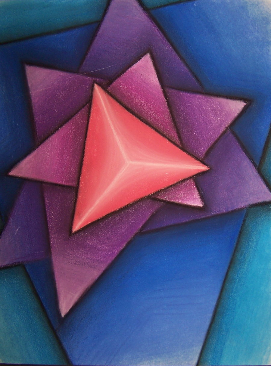 Triangulation sensation colorful abstract art of ashleigh mcgarity