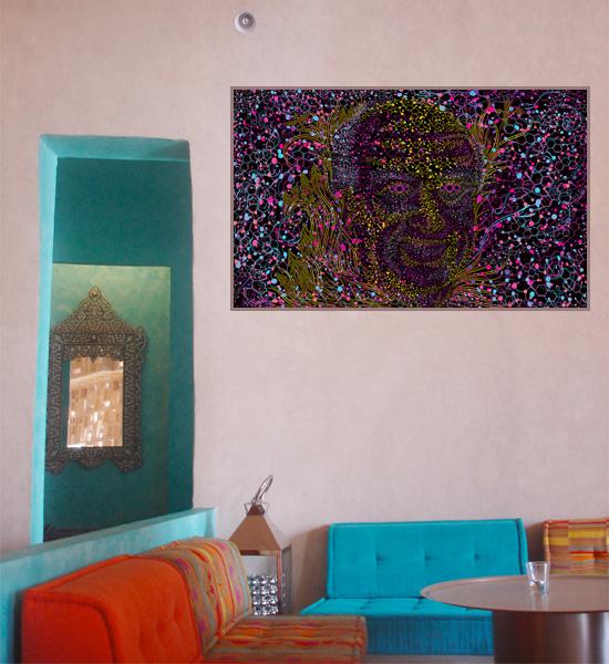 Albert Hofmann psychedelic portrait print placement