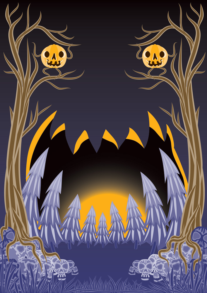 Free Halloween flyer background by Andrei Verner