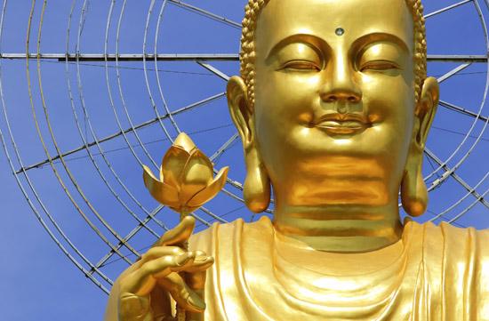 Big Golden Buddha statue in Da Lat, Vietnam