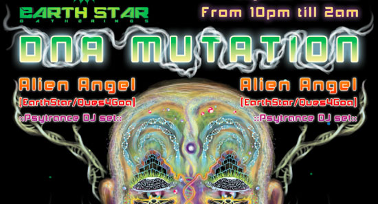 DNA mutation psychedelic party poster tutorial step 13
