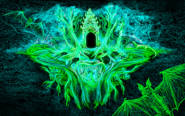 Jungle Wat Free Psychedelic Wallpaper Andrei Verner