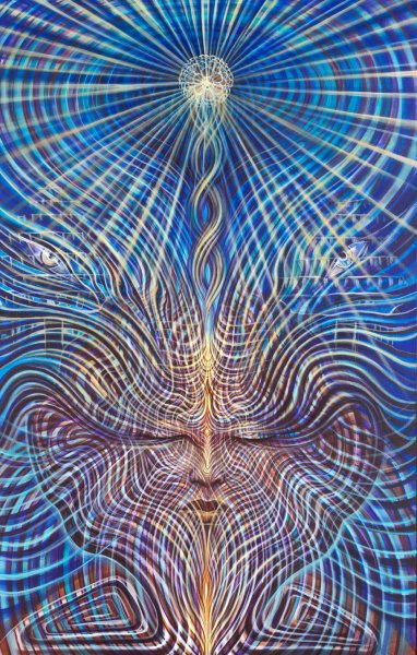 Lucid sound psychedelic painting by Amanda Sage