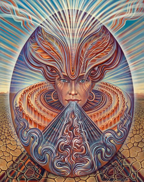Spirit - psychedelic painting by Amanda Sage
