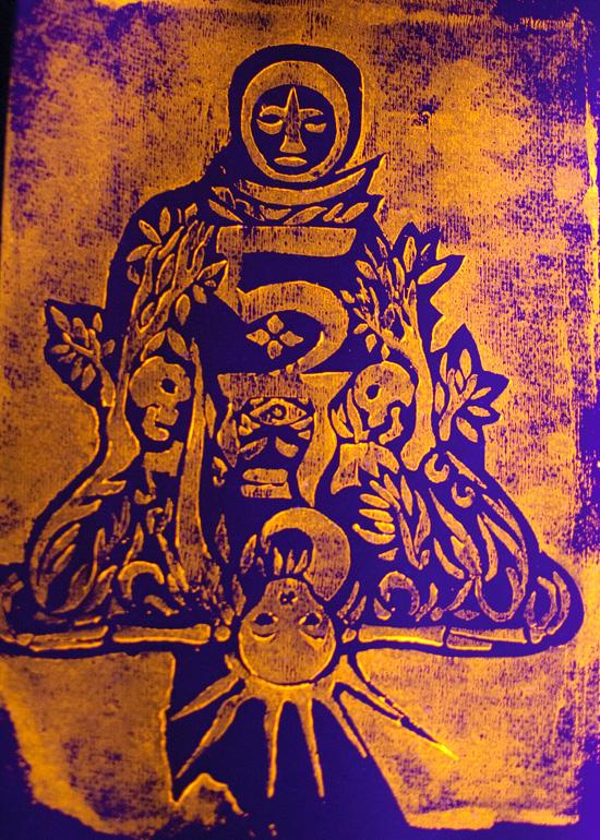 Linocut print by Andrei Verner