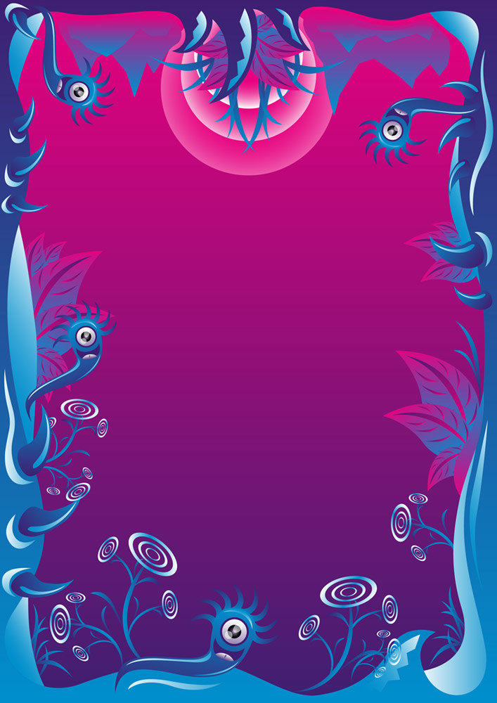 Chilly Summer psychedelic party free flyer background by Andrei Verner