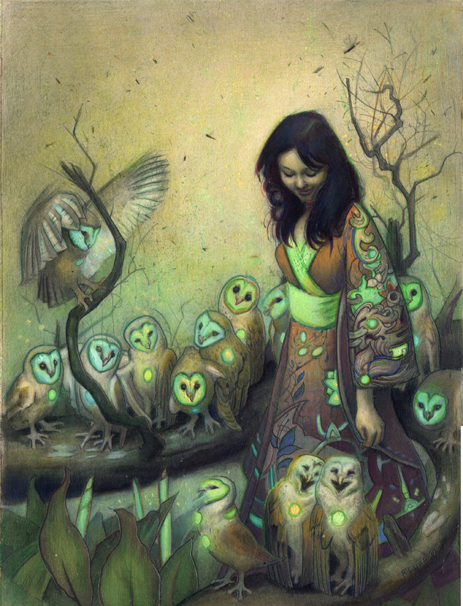 Owl commission by Rodrigo Enrique Luff