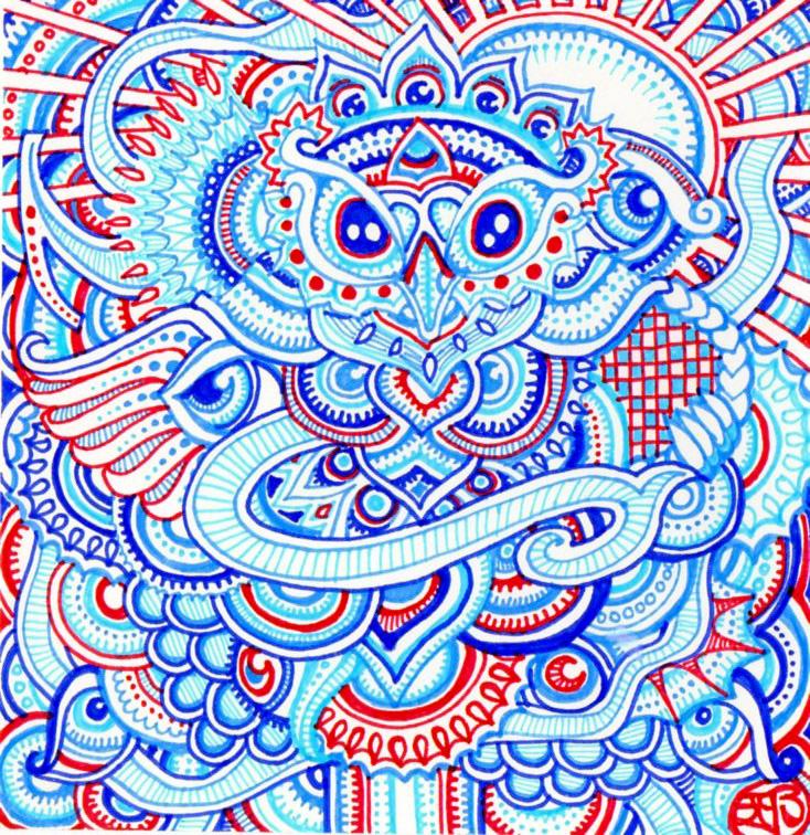 Majin - trippy doodles by Lutamesta