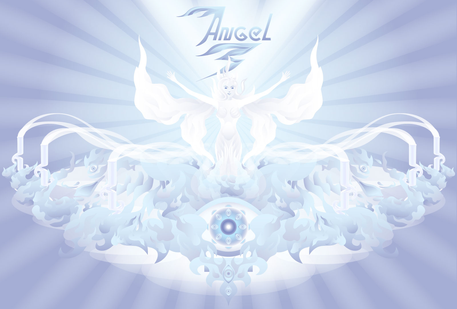 Angel zong splash page and logo