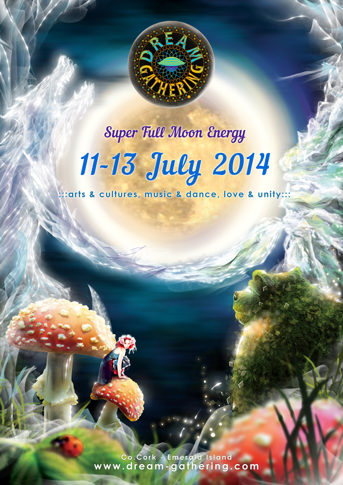 Dream Gathering 2014 psychedelic flyer by Andrei Verner