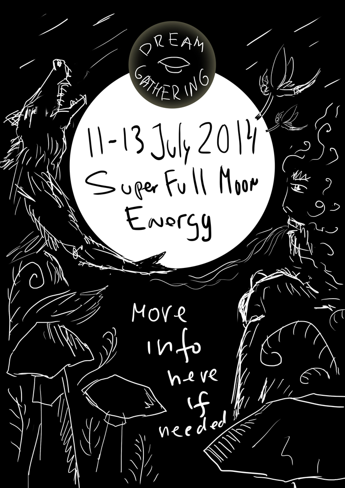 Dream Gathering 2014 psychedelic flyer sketch by Andrei Verner