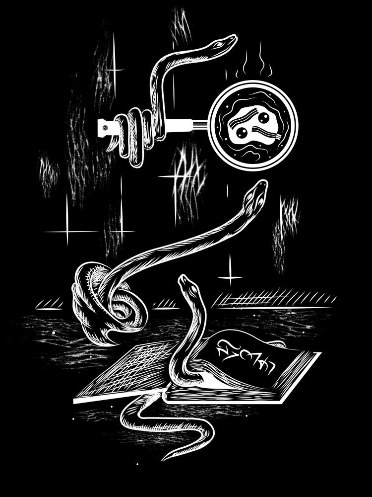 Snake drawing digital doodle