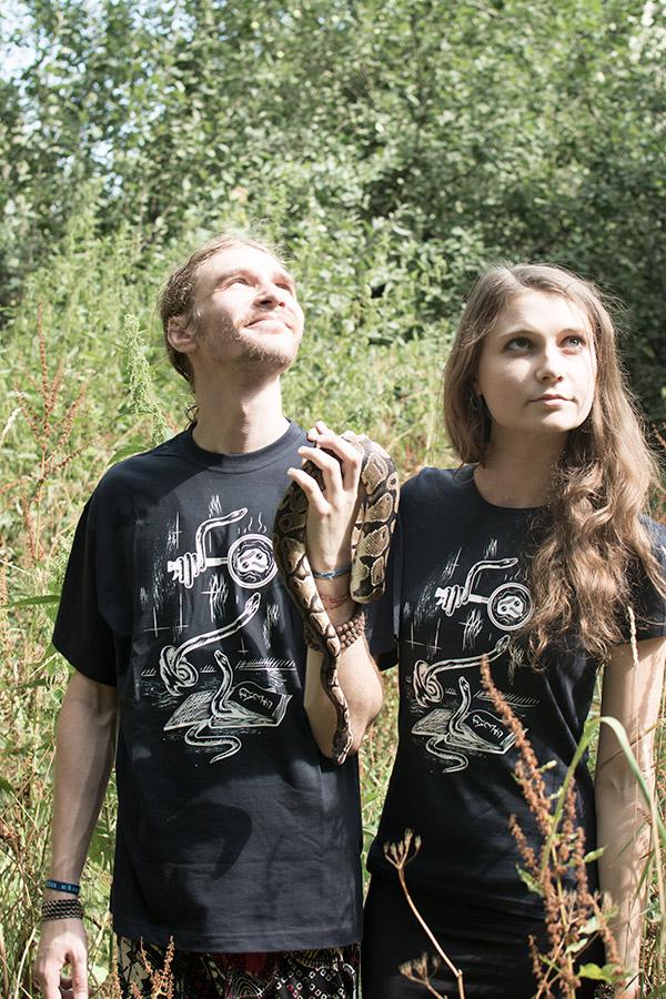 Snake drawing digital doodle T-shirt