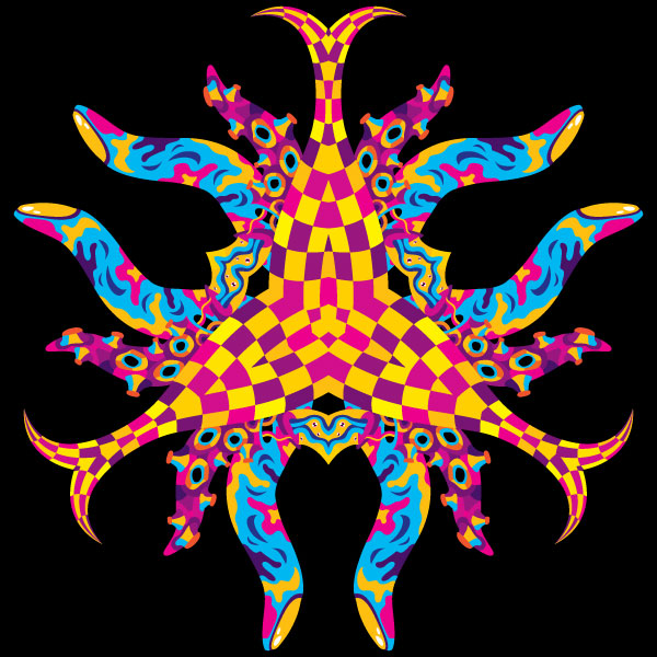 Trippy tentacles vector EPS freebie by Andrei Verner