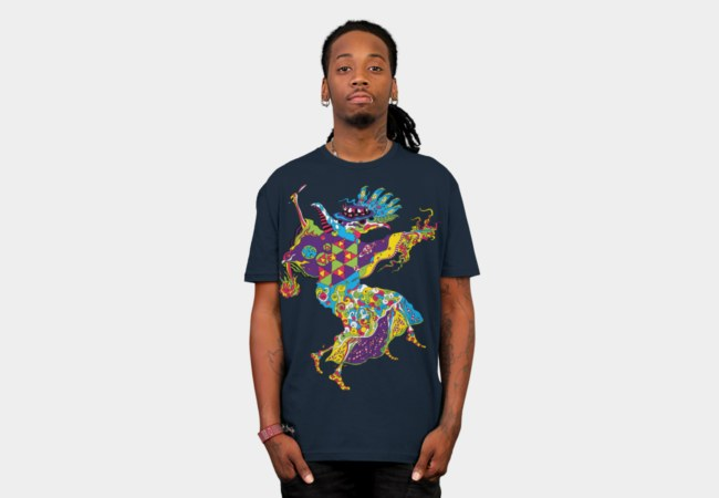 Psychedelic Plague Doctor man's t-shirt by Andrei Verner