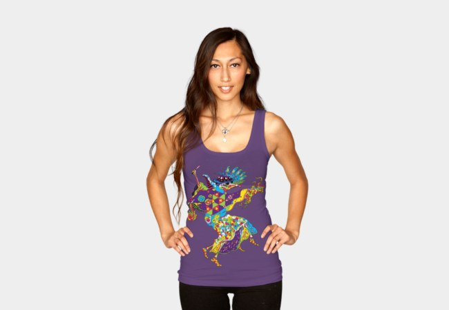 Psychedelic Plague Doctor woman's tank top by Andrei Verner