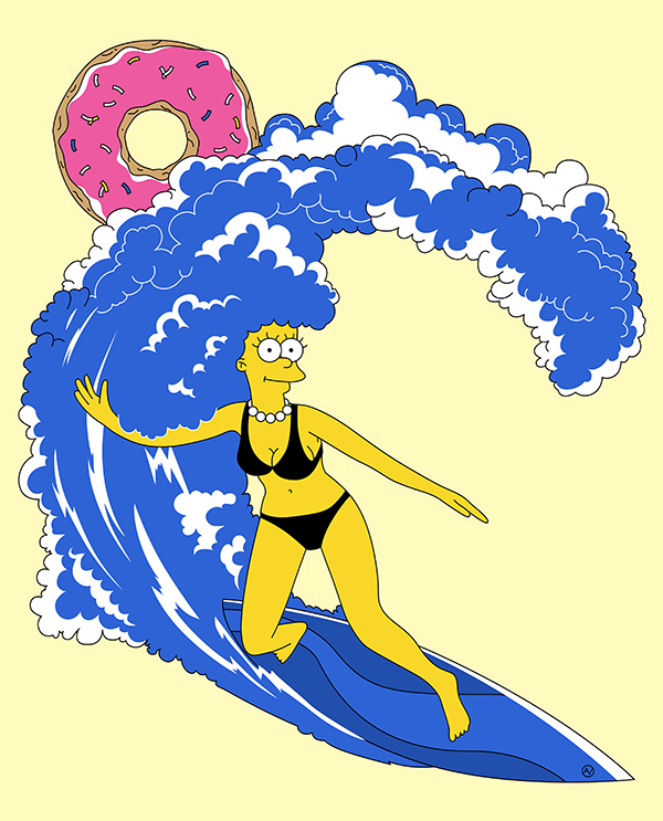 Surfing Marge by Andrei Verner