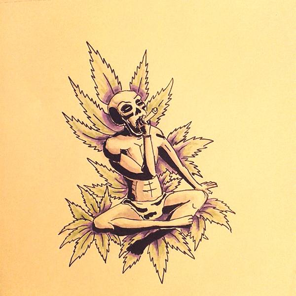 Dead yogi sketch by Andrei Verner