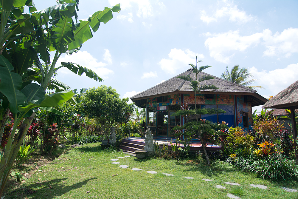 Front view of our house on Bali