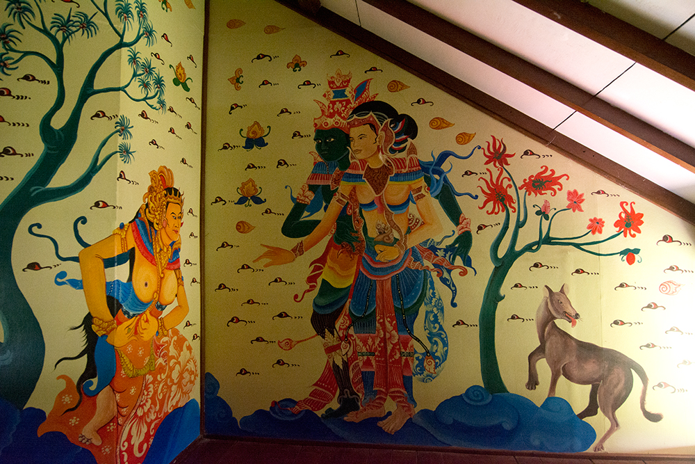 Wall paintings in our house on Bali - second floor