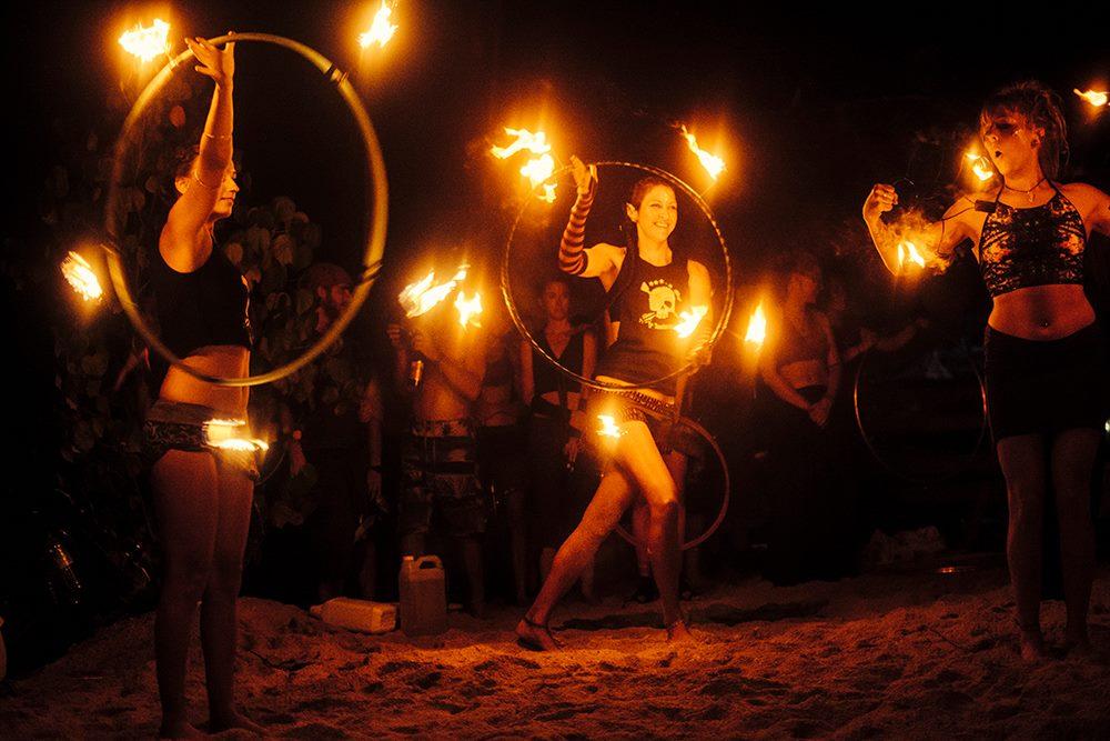 Pirates Retreat performance at Burning Island 2016 Gili Air Indonesia. Photo by Marina Nozyer