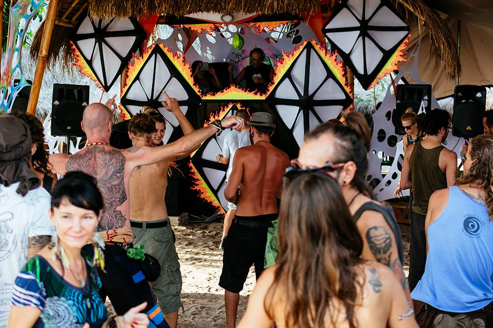 Psytrance festival Burning Island 2016 Gili Air Indonesia. Photo by Marina Nozyer