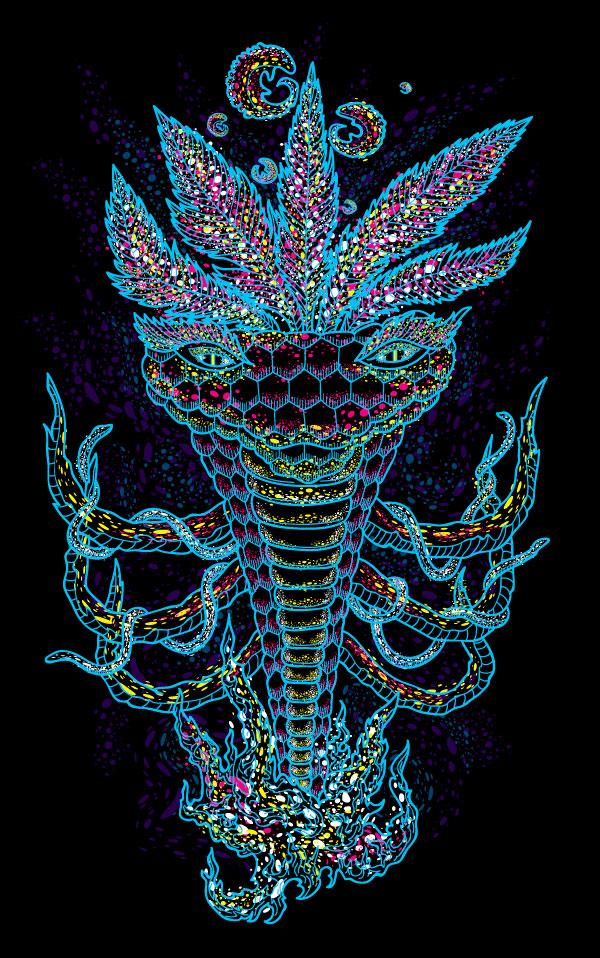 Kundalini Meditation Snake Spirit t-shirt design by Andrei Verner