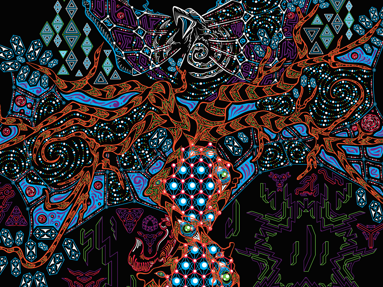 Psychedelic Yggdrasil the Tree of Life free wallpaper by Andrei Verner