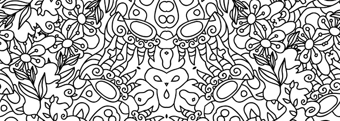 Psychedelic Ornaments Colouring Book 1 Release - Andrei Verner