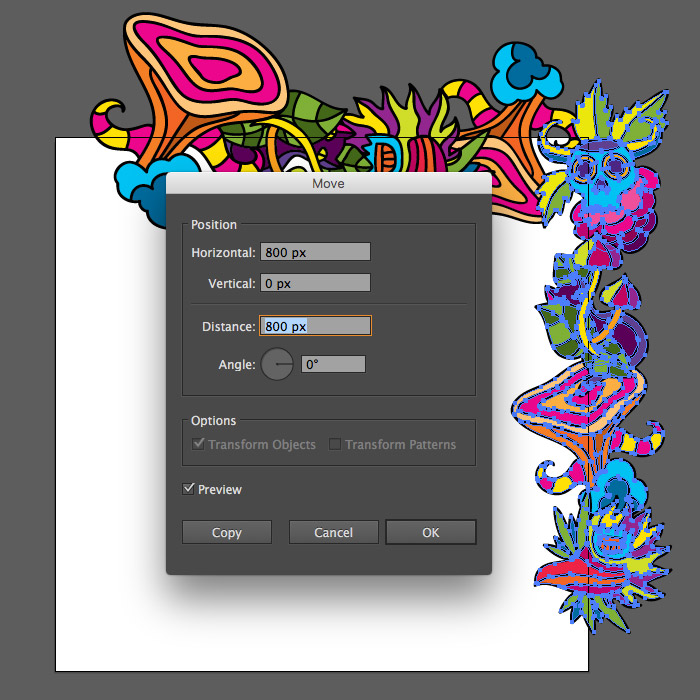 How to make a psychedelic seamless vector pattern in Adobe Illustrator tutorial by Andrei Verner