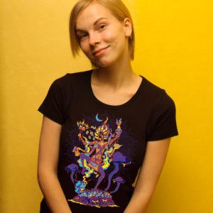 Alice in Wonderland in Kali Goddess form