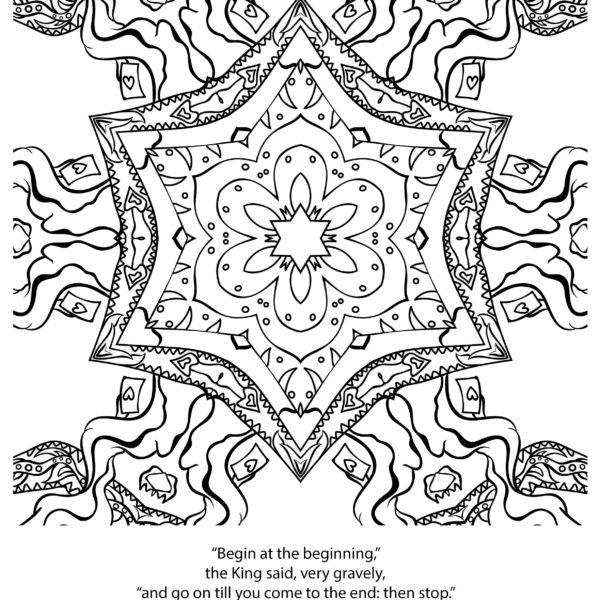 Kali in Wonderland Free Colouring Book