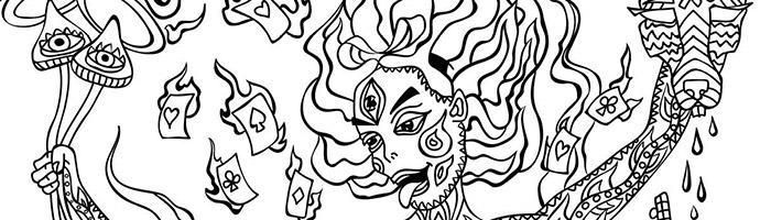 Kali in Wonderland Psychedelic Colouring Book 2