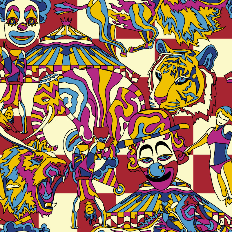 Circus - psychedelic pattern design for ON THAT ASS by Andrei Verner