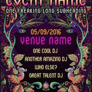 Psychedelic Jungle Party Flyer Template by Andrei Verner