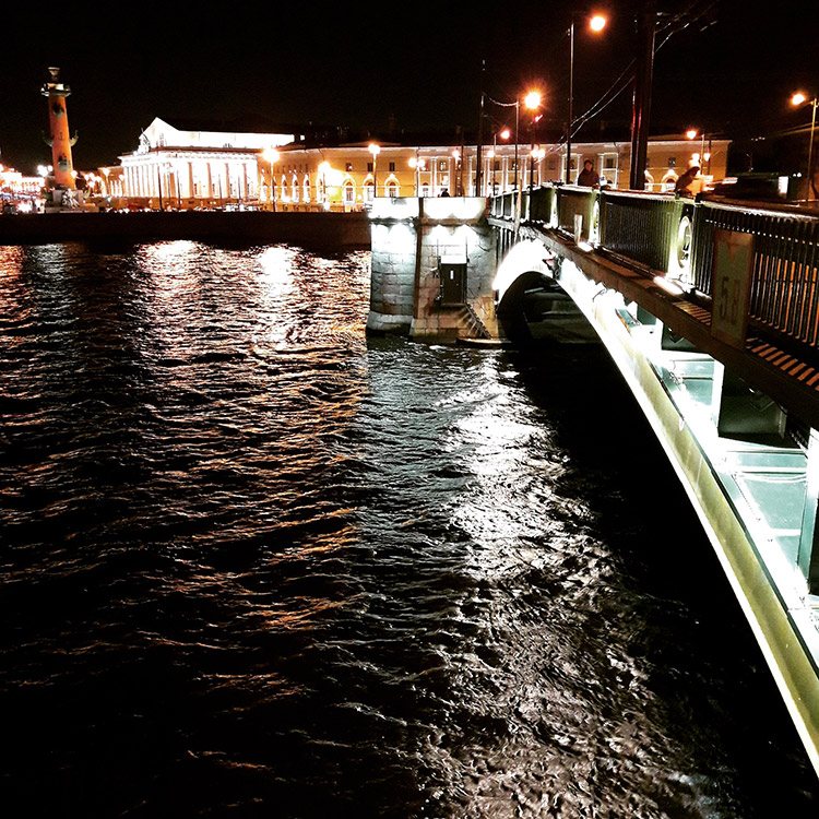 Neva river. St. Petersburg night