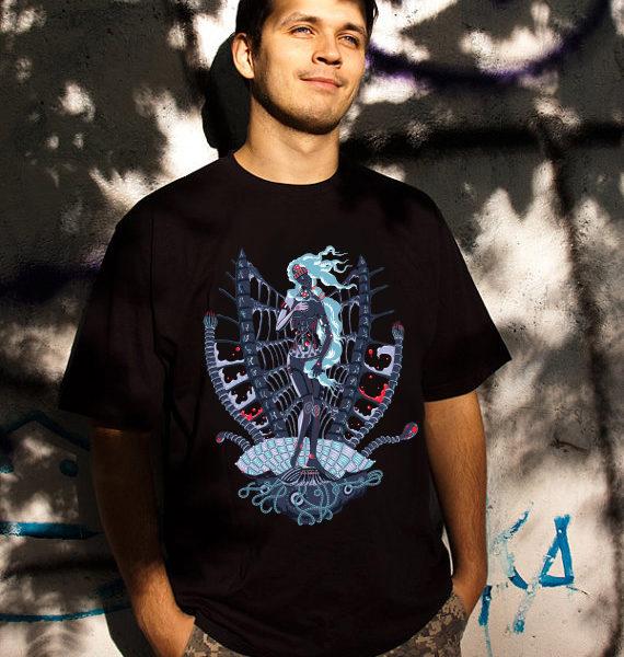 Rebirth of Cyber Venus psychedelic T-shirt
