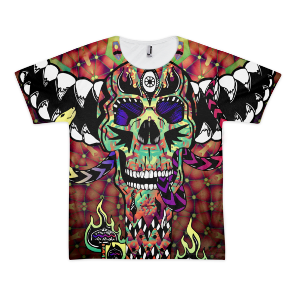 Skull Totem - All Over Print T-shirt