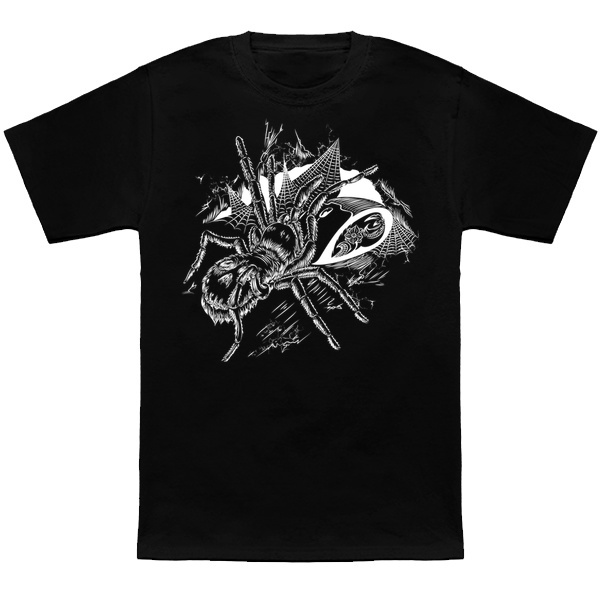 Tarantula drawing digital doodle T-shirt