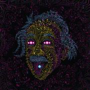 Acid Einstein - All over print Psychedelic T-shirt Art