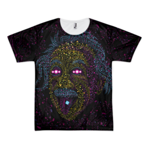 Acid Einstein - All over print Psychedelic T-shirt