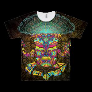 Mushroom God Psychedelic T-shirt