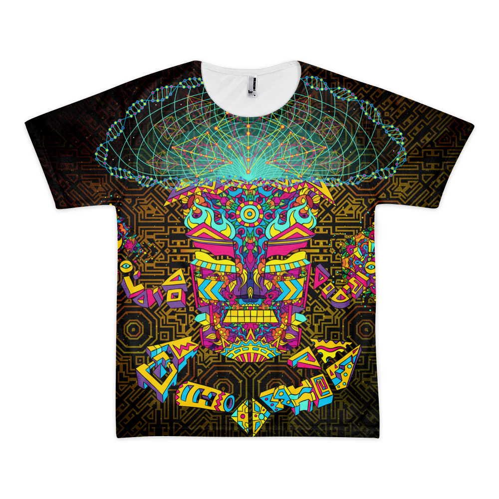 Magic Mushroom God character All-Over-Print T-shirt