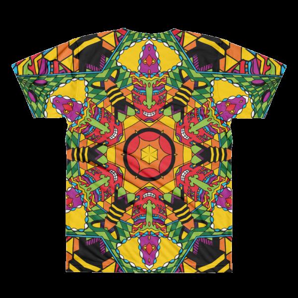 Mushroom God All-Over-Print T-shirt Back Side
