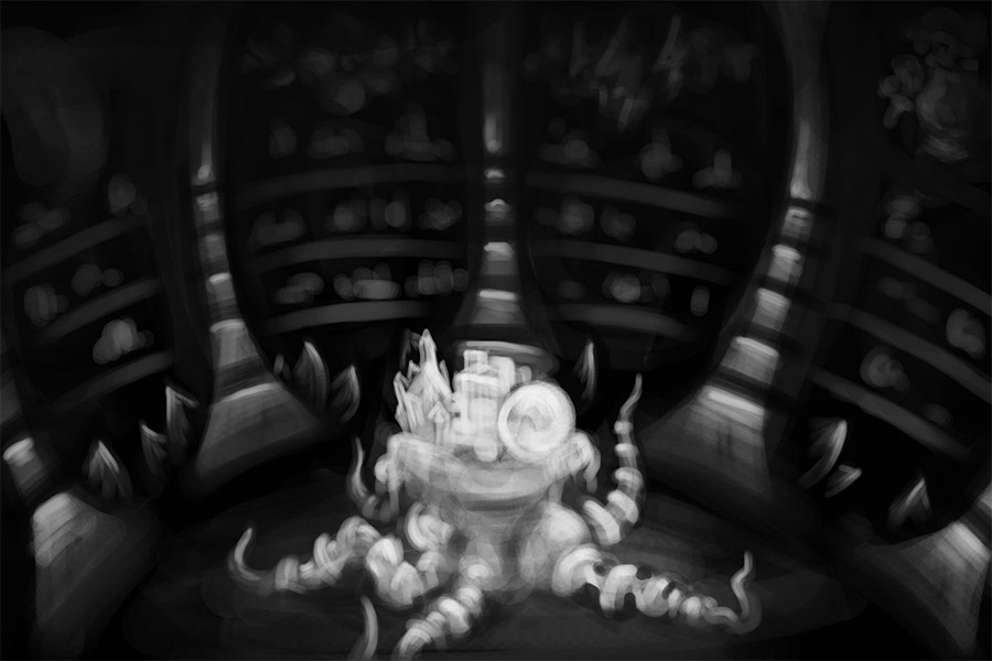 Shaman's Hut Concept Sketch 3 by Andrei Verner