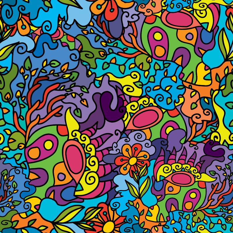 Abstract Jungle - Spring Backdrops Showcase - Fluorescent UV-reactive Deco