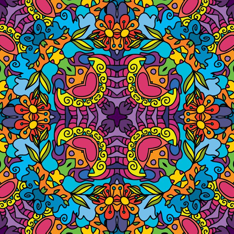 Kaleidoscope Jungle - Spring Backdrops Showcase - Fluorescent UV-reactive Deco
